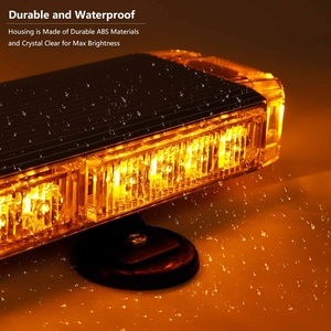 "Image 3 - 22"" to 45.6"" Car Led Strobe Flash Warning Light Bar Roof Beacon Flashing Emergency Trucks Beacons Trailer  Engineering vehicle"