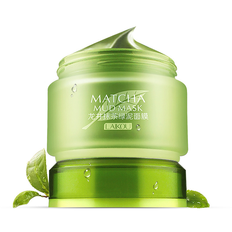 Matcha Face Mask Volcanic Clay Oil Control Deep Cleaning Blackhead Remover Purifying Shrinks Pores Nourishing Acne Treatm