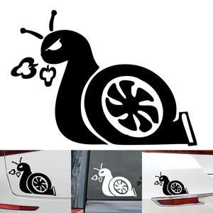 Car Stickers and Decals Car Sticker Funny 3D Turbo Snail Cool Decals Stickers Auto Vinyl Decals Accessories Anti-Scratch Sticker