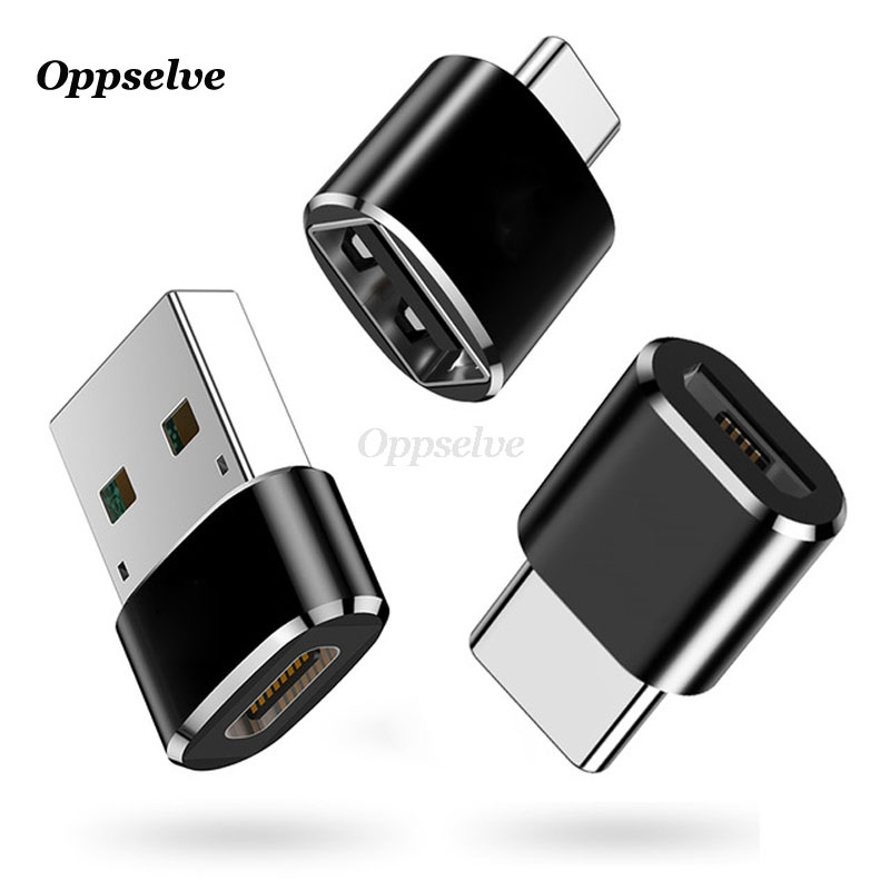 OTG Adapter Converter Micro USB To Type-C USB To Type C For Macbook Samsung S9 S8 Oneplus 2 3 Type C To Micro USB Charger Cabo