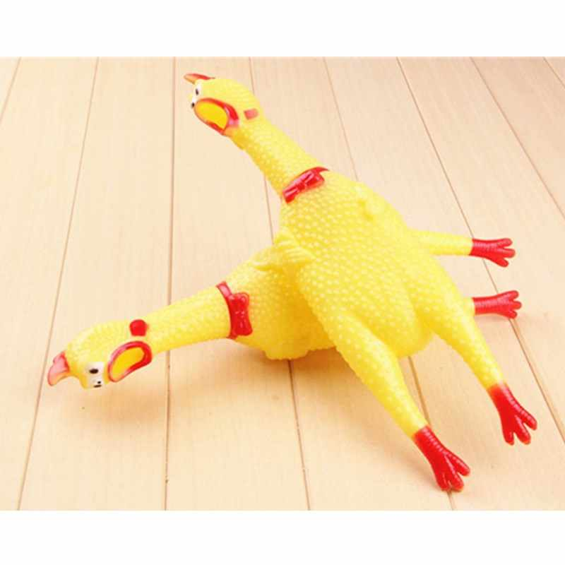 Screaming Chicken Easter Party Noise Maker Rubber Chicken Squeak Toy Kids Birthday Wedding Party Decoration