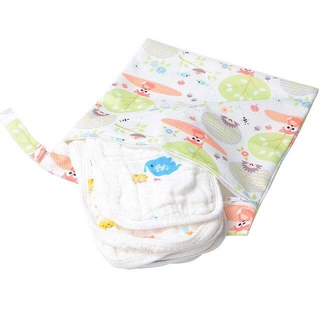Waterproof Mini Wet Bag Printed Wetbag Pocket Diaper Nursing Menstrual Pad Travel Stroller Maternity Diaper Bag Reusable 27*30cm | Happy Baby Mama