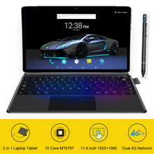 Free Shipping Upgrated 2 in 1 Tablet 11.6 Inch 128GB ROM Tablet With Keyboard GPS 4G Phone Call Tablet Android Miracast