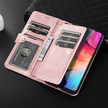 Premium Zipper Flip Brieftasche Fall für Samsung Galaxy A10 A20 A30 A40 A50 A70 S10 Plus S10e S7 Rand S8 s9 Abnehmbare Leder Abdeckung