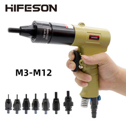 Пневматические пневматические гайки с заклепками, вставные резьбовые клепки, клепки, гайки, инструмент для M3 M4 M5 M6 M8 M10 M12, гайки