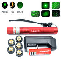 Ponteiros laser verde militar 532nm 10000m de alta potência lazer lanterna queima jogo & luz queimar cigarros caça caneta laser