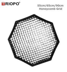 Image 2 - TRIOPO 55 سنتيمتر/65 سنتيمتر/90 سنتيمتر العسل شبكة ل TRIOPO طوي سوفتبوكس المثمن مظلة لينة صندوق التصوير استوديو الملحقات