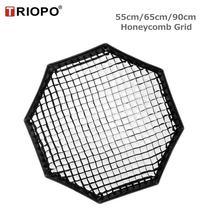 TRIOPO 55Cm/65Cm/90Cm Tổ Ong Lưới Dành Cho TRIOPO Có Thể Gập Lại Softbox Bát Giác Dù Mềm Mại Hộp Chụp Ảnh phòng Thu Phụ Kiện