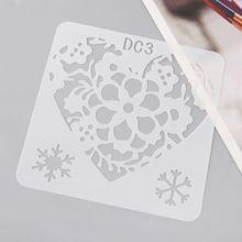 Toy Painting Stencils Craft Drawing-Molds Paper-Art Plastic Children DIY Flower 12pcs