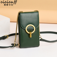 Genuine Leather Women Mobile Phone Bags Fashion Flap Small Handbag Purse Female Shoulder Bags Luxurious Brand Mini Messenger Bag