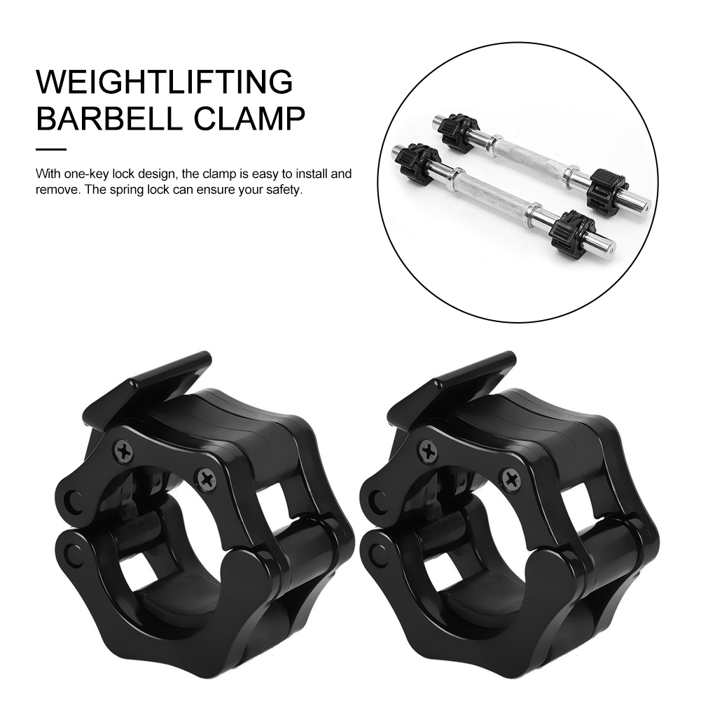 2PCS Weightlifting Barbell Clamp Durable Safety Barbell Locking Collar for 25mm/28MM/30MM Dumbbell Rod