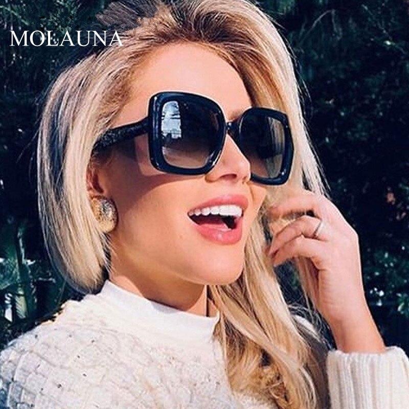 Роскошные квадратные солнцезащитные очки для женщин 2020 винтажные брендовые дизайнерские ретро солнцезащитные очки модная большая оправа для женщин UV400 Женские солнцезащитные очки      АлиЭкспресс