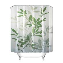 Waterproof Shower Curtain With Hooks Bathing Sheer For Home Decoration Bathroom Accessaries Polyester fabric curtain