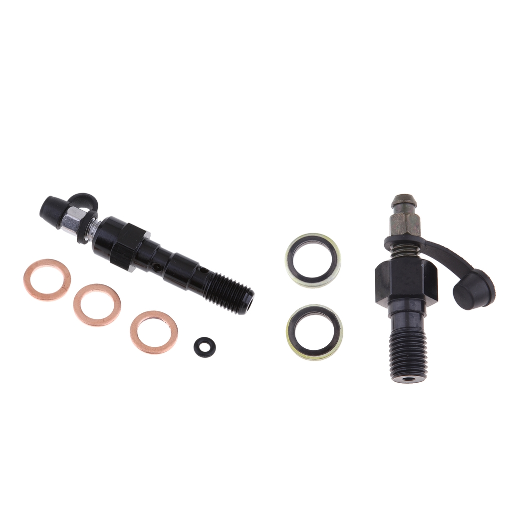 2pcs Brake Caliper <font><b>Bleed</b></font> <font><b>Screw</b></font> Nipple Banjo Bolt Dust Cap <font><b>M10</b></font> x 1.25 Black image