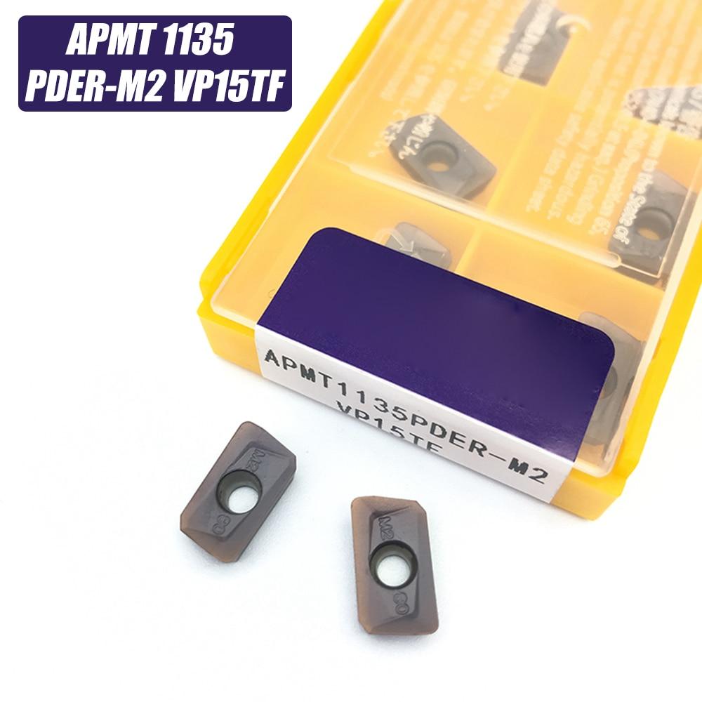 10pcs APMT1135 M2 VP15TF Carbide Inserts Turning Tool APMT 1135 Face Mill Lathe Tools Milling Cutter CNC Tool APMT1135PDER