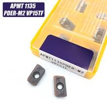 10pcs APMT1135 M2 VP15TF carbide inserts Turning tool APMT 1135 Face Mill Lathe Tools Milling cutter CNC tool APMT1135PDER rap300r 50 22 4t 75 angle face milling cutter tools for apmt1135pder carbide inserts suitable for nc cnc machine