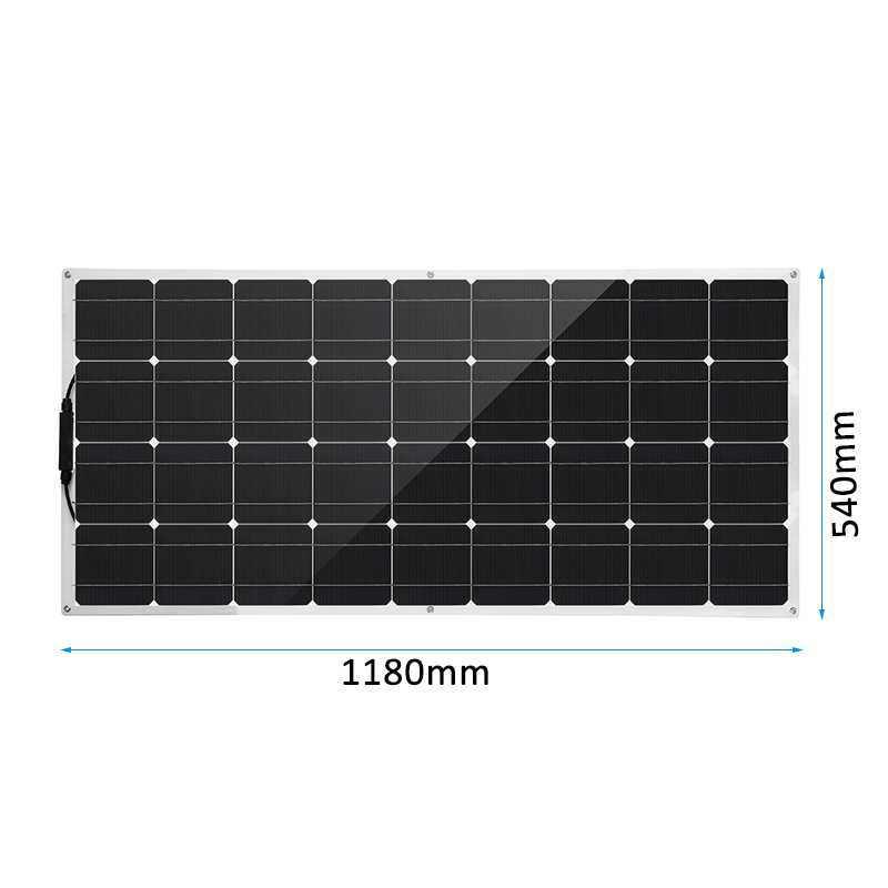 18 فولت شبه مرنة لوحة طاقة شمسية 300 واط خلية شمسية أحادية البلورية لتقوم بها بنفسك وحدة كابل في الهواء الطلق موصل شاحن بطارية مقاوم للماء