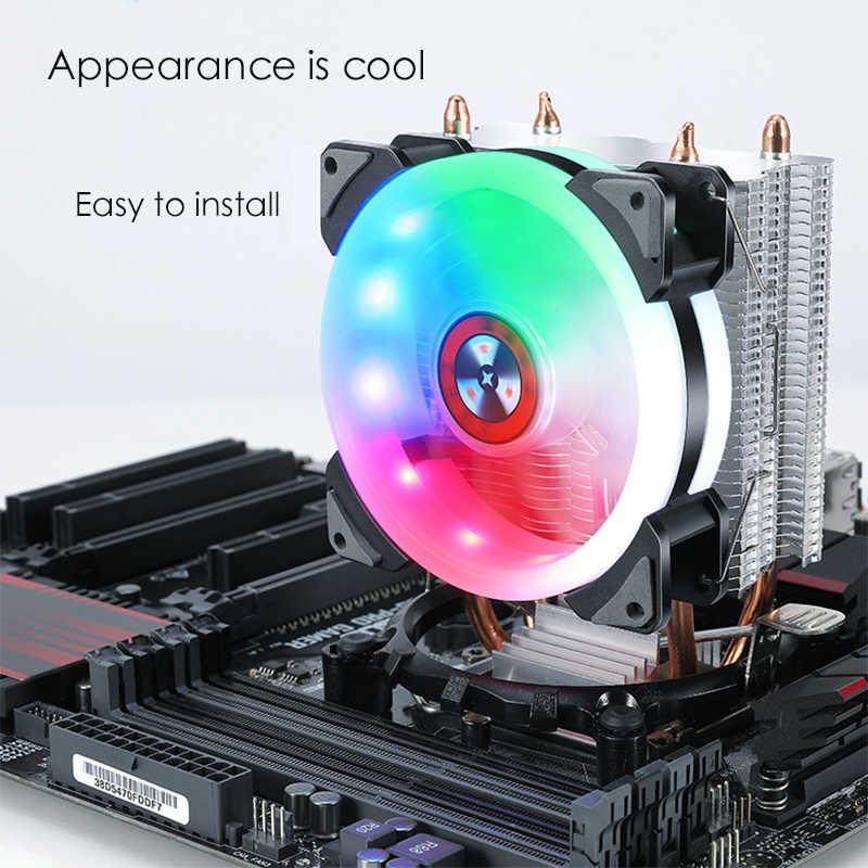 وحدة المعالجة المركزية برودة غرفة التبريد المشجعين هادئة ل إنتل LGA775 1155 1156 جهاز كمبيوتر شخصي اللوحة المعالج التبريد مروحة النجم الساطع ضوء طبعة
