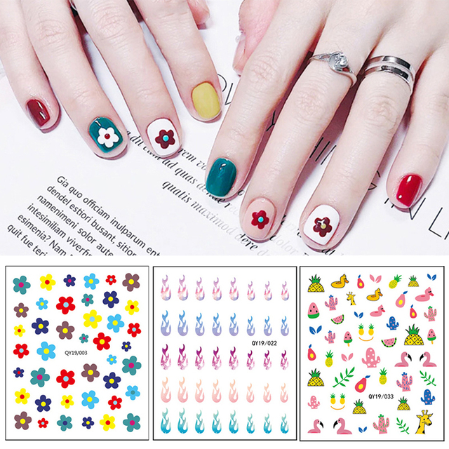 1 Pc Nail Art stickers Flowers Series Mixed Patterns