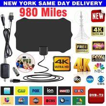 Pohiks 1pc novo 980 milhas antena digital tv amplificador interno antena de sinal 1080p 4k hdtv receptor com cabo