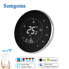 Smart WiFi Touch Thermostat Temperature Wireless Controller For Water/Electric Floor Heating Water/Gas Boiler Works Google Home цена и фото