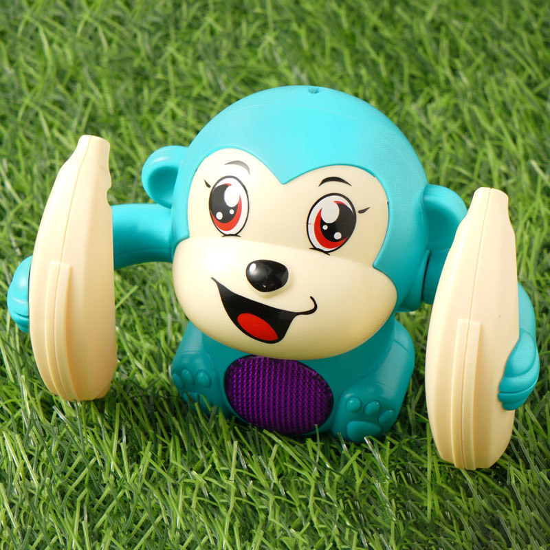 Baby Voice Control Rolling Little Monkey Toy Walk Sing Brain Game Crawling Electric Toys Hot Sales