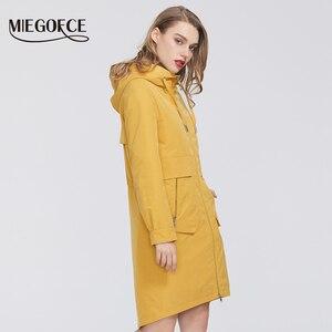 Image 2 - MIEGOFCE manteau coupe vent en coton pour femmes, Trench, de styliste, avec col résistant, Trench chaud, nouveauté 2020