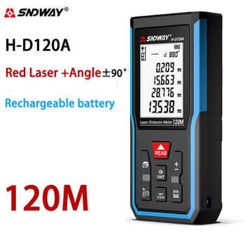 Sndway Wiederaufladbare Laser-entfernungsmesser Elektronische Roulette Laser Messen 50M 70M 100M 120M Reichweite Finder Digital Meter lazer Band