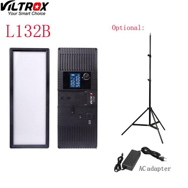 Viltrox Cámara de luz LED L132B, pantalla LCD Ultra delgada, lámpara de luz LED regulable para estudio, Panel para cámara DSLR, videocámara DV