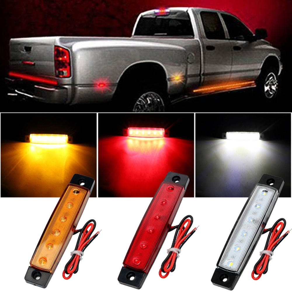 BOOMBOOST 30PCS 6LED 12V truck signal lights RED YELLOW WHITE