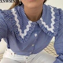 Xnwmnz za 2020 blusa feminina sweet lolita рубашка девушки из