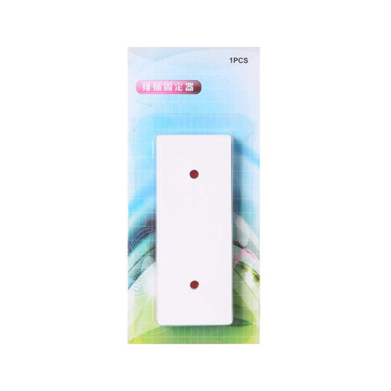 Self-Adhesive Power Strip Holder Fixator Wall-Mounted Desktop Socket Fixer Cable Organizer Charger Accessories