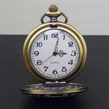 цены Antique Farmer Car Tractor Quartz Pocket Watch Vintage Steampunk Fob Watches Men Women Necklace Pendant Clock Time With Chain