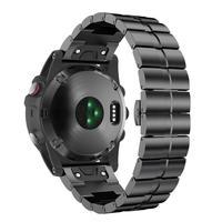 26mm Quick Fit pulseira De Metal para Garmin fenix 6X Pro 5X além de Assistir a Banda de aço inoxidável para fenix HR 3 Substituição Da Pulseira|Acessórios inteligentes| |  -