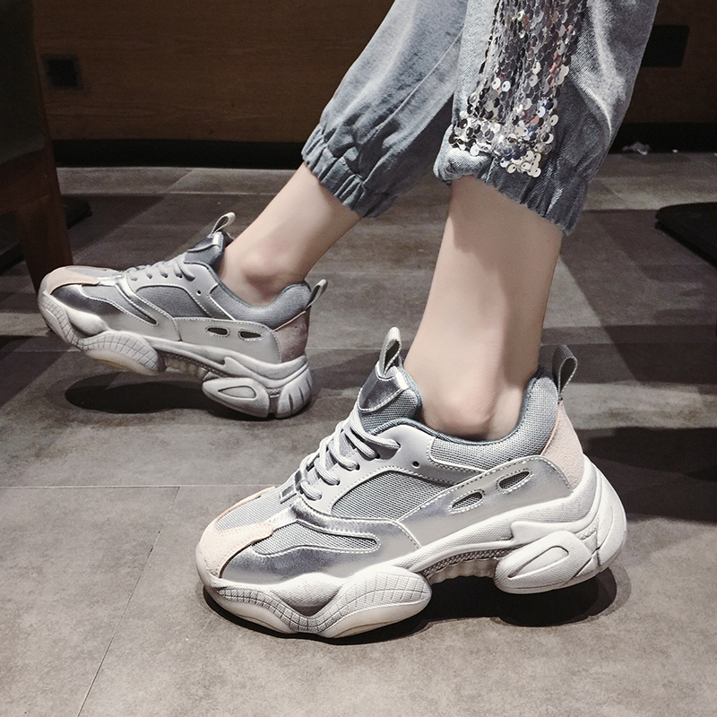 Womens Sneakers Shoes 2018 Fashion Woman-shoes Tennis Female Platform Designer Women's Summer Trainers Casual Thick Microfiber