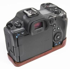 Image 3 - Retro Genuine leather Camera bag Protective Half Body case cover For Canon EOS R5 R6 digital cameras