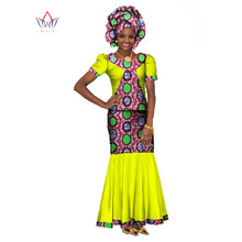 Summer Women Dress Traditional African Traditional 2 Pieces Women Set Clothing Custom Made Tops + Sk