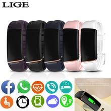 Lady luxury brand smart Bracelet Pink beautifully designed watch women Heart rate blood pressure function Fitness tracker