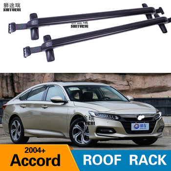FOR HOND Accord 2004+ 7TH 8TH 9TH 10TH Heavy-duty Bars with Locking Aluminum Alloy with Luggage Box Bike Rack sport Roof Luggage