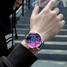 Relógios de pulso masculino, colorido luster homens 2020 top marca de luxo cronógrafo relógio de pulso de quartzo à prova d água homens 2020