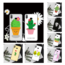 Nbdruicai Cartoon Cactus Cover Black Soft Shell Telefoon Geval Voor Samsung A10 A20 A30 A40 A50 A70 A7 A9 A6 a8 Plus 2018(China)