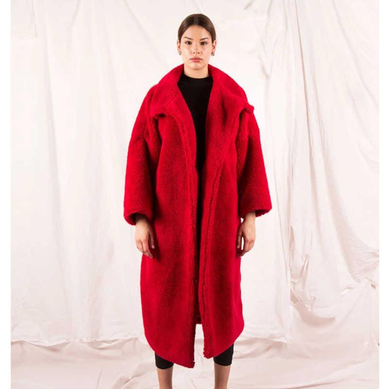 CP зимнее пальто из искусственного плюшевого меха для Женщин, Модные Карманы, негабаритная куртка для женщин, повседневное пальто с отложным воротником для женщин, для дам, CP316
