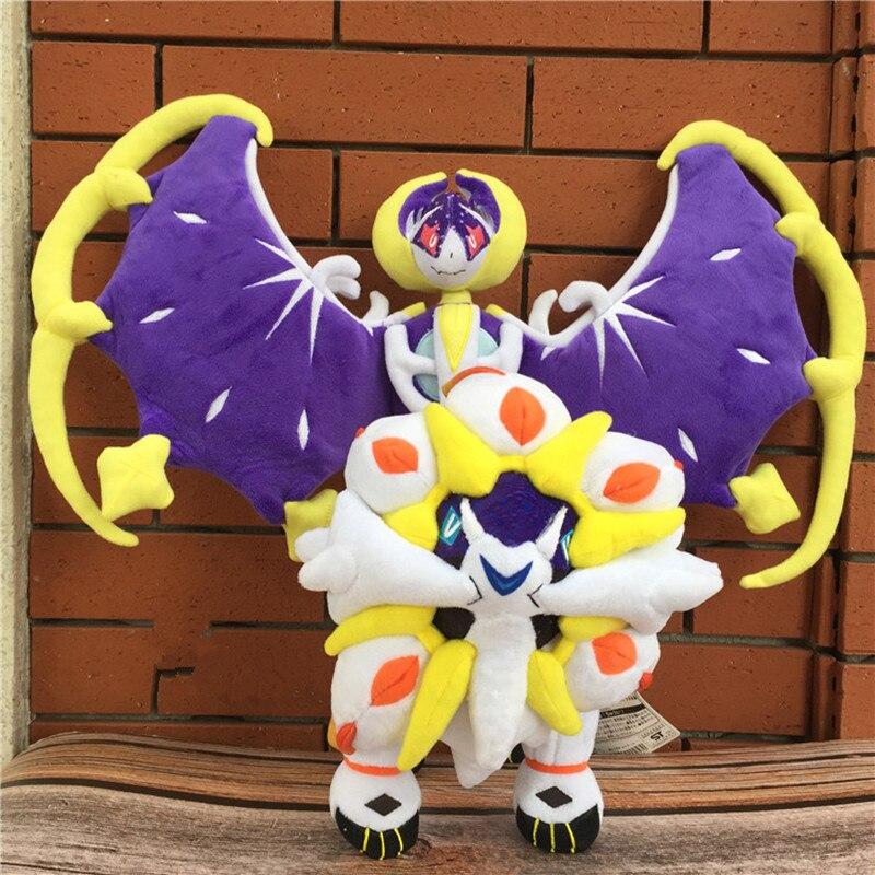 new Lunala and Solgaleo plush Anime pet toy lifelike cool Stuffed soft positive energy good quality Halloween Christmas gift kid(China)