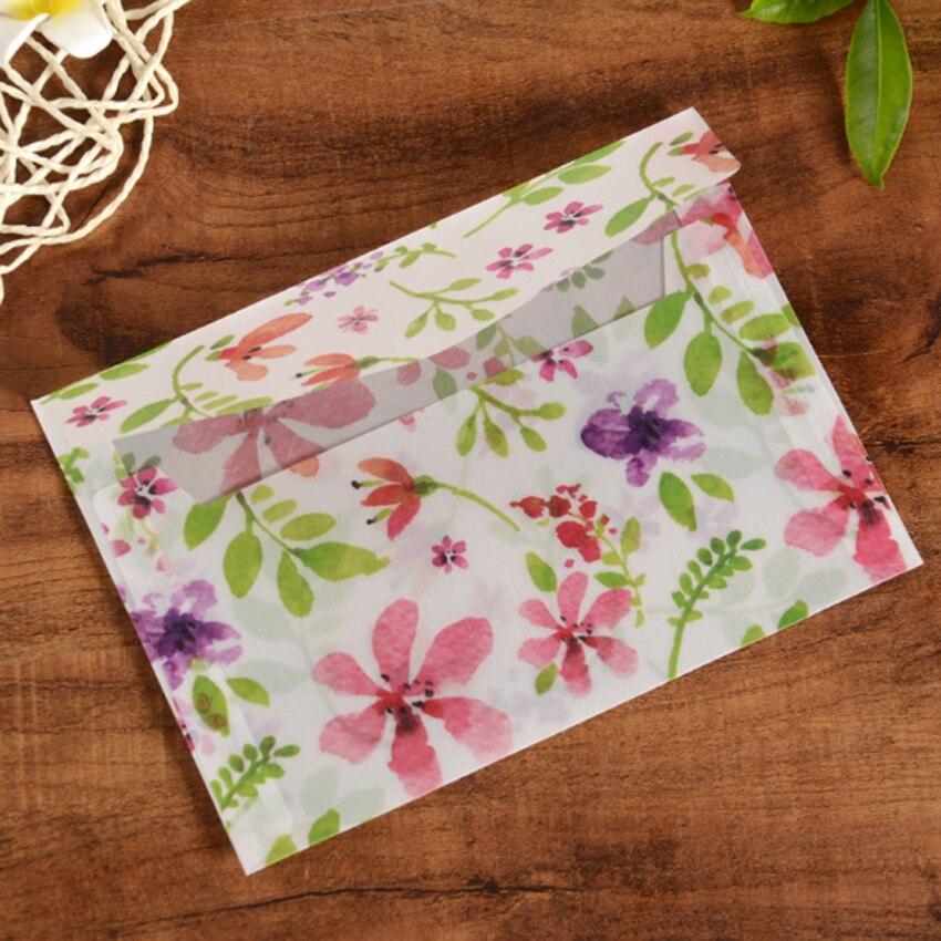 20pack/lot 12.5*17.5 Translucent Envelope Special Sulfuric Acid Paper Color Printing Envelope Letter Stationary Wedding Envelope