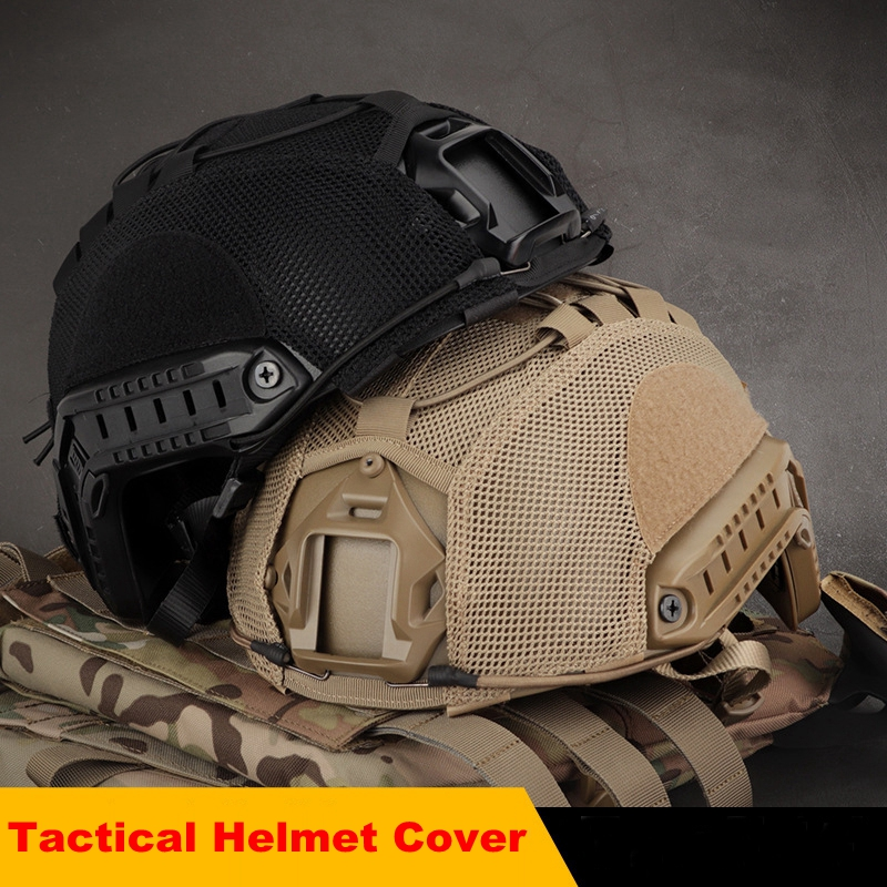 Military Army Tactical Helmet Cover Airsoft Paintball CS Wargame FAST Helmet Cover