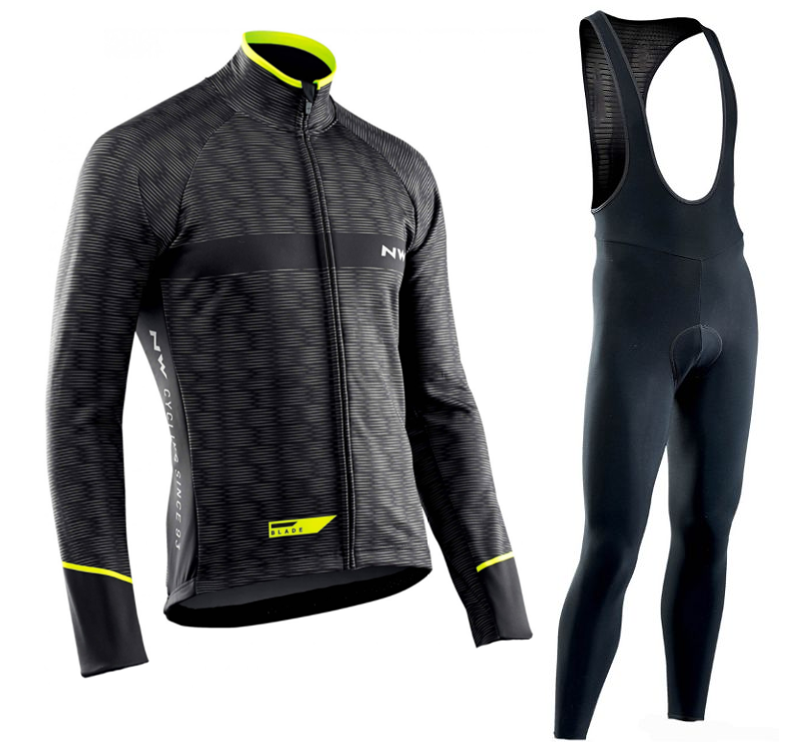 <font><b>NW</b></font> <font><b>2019</b></font> <font><b>Northwave</b></font> Pro team Cycling Jersey Clothes autumn Breathable men's long sleeve suit outdoor riding bike MTB clothing set image