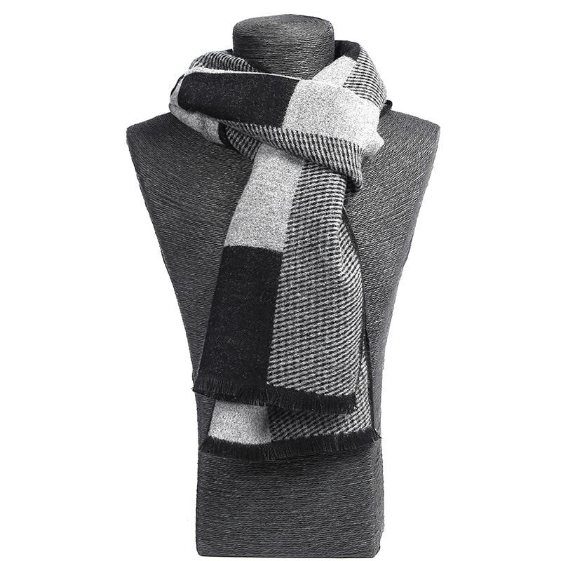 2019 Modis Winter Casual Scarves Men Scarf Warm Neckercheif Business Plaid Scarves Men Cotton Wraps Male Sjaal Foulard Outwear