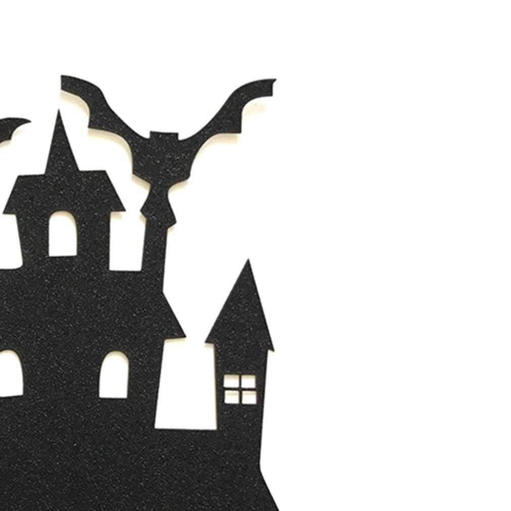 1 個ハロウィン城ケーキトッパーハロウィンカップケーキ旗