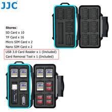 Jjc Прочный чехол для держателя карты памяти хранения Коробка