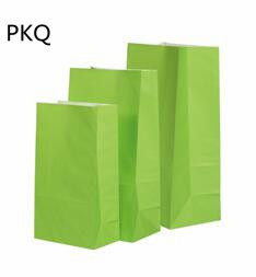 50pcs 13*8*24cm Kraft papier emballage cadeau pochette de qualité alimentaire emballage papier sac pour fête mariage faveur Biscuit sac - 3